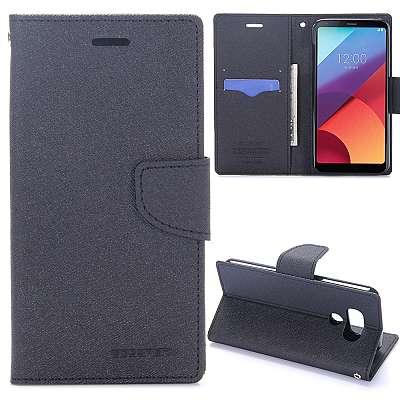 Preklopni ovitek Goospery (črn) za LG G6