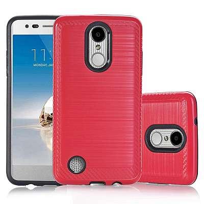 Ovitek Hard Cover (rdeč) za LG K8 2017
