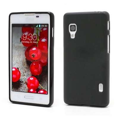 Ovitek TPU (črn) za LG Optimus L5 II