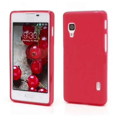 Ovitek TPU (rdeč) za LG Optimus L5 II