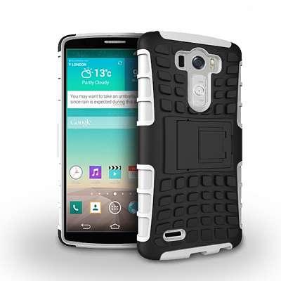 Ovitek Hard Cover za LG G3 (črn/bel)