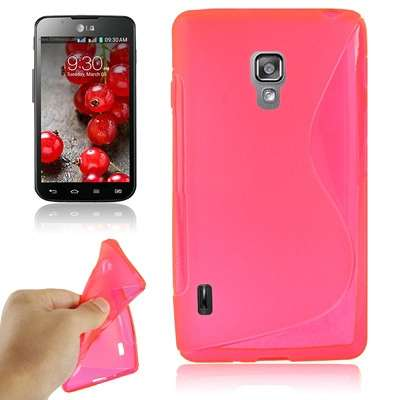 Ovitek TPU (rose red) za LG Optimus L7 II