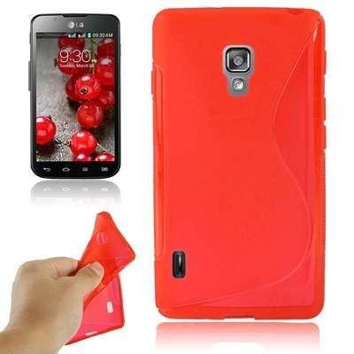 Ovitek TPU (rdeč) za LG Optimus L7 II