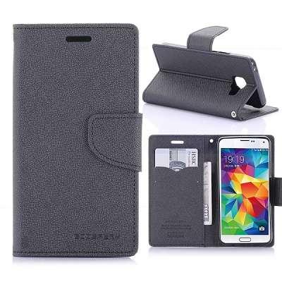 Preklopni ovitek Goospery (črn) za Samsung Galaxy A3 2016