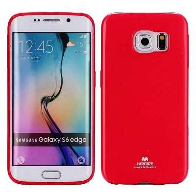 Ovitek TPU Goospery (rdeč) za Samsung Galaxy S6 Edge
