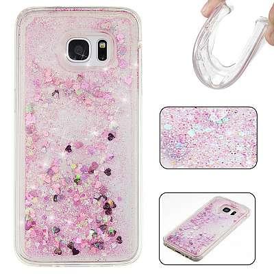 Vodne bleščice (roza) za Samsung Galaxy S7 Edge