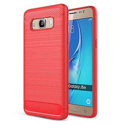 Ovitek TPU (rdeč) za Samsung Galaxy J7