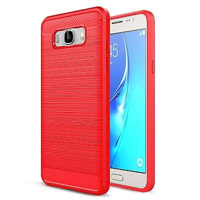 Ovitek TPU (rdeč) za Samsung Galaxy J5 2016