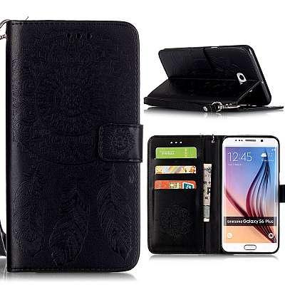 Preklopni ovitek (črn) za Samsung Galaxy S6 Edge Plus