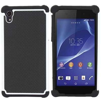 Ovitek Hard Cover (črno bel) za Sony Xperia Z2