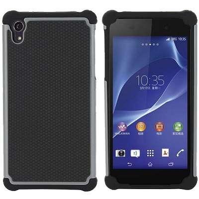 Ovitek Hard Cover (črno siv) za Sony Xperia Z2