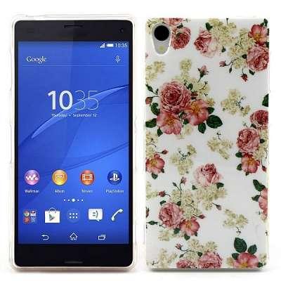 Ovitek TPU (rože) Sony Xperia Z3