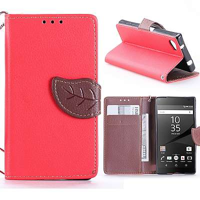 Preklopni ovitek (rdeč) za Sony Xperia Z5 Compact