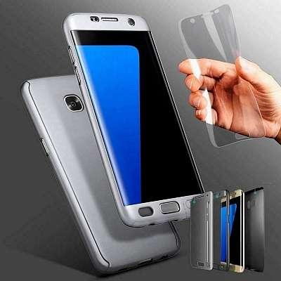Ovitek 360° (Srebren) + zaščitna folija za Samsung Galaxy Note 10 Plus