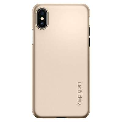 Ovitek Spigen Thin Fit (Gold) za Apple iPhone X/XS