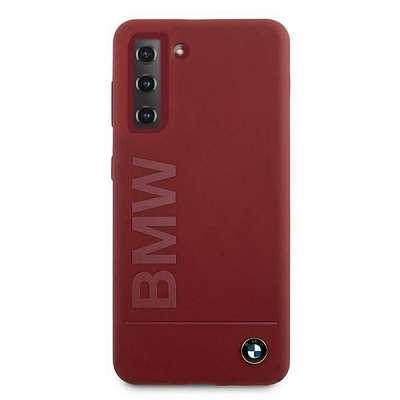 Originalen ovitek BMW (red) Silicone Signature Logo za Samsung Galaxy S21 Plus