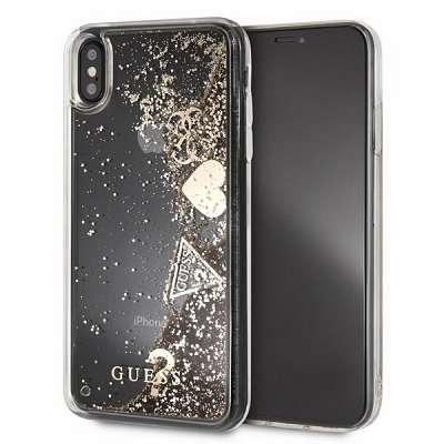 Original ovitek GUESS (sparkle heart) za iPhone Xs Max