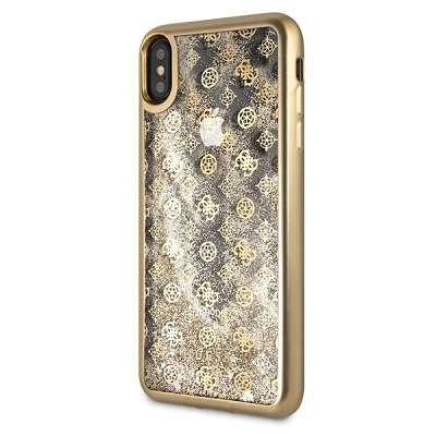 Original ovitek GUESS (gold sparkle) za iPhone XsMax