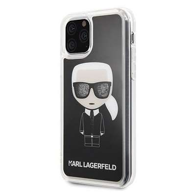 Original ovitek Karl Lagerfeld (black sparkle) za iPhone 11 ProMax