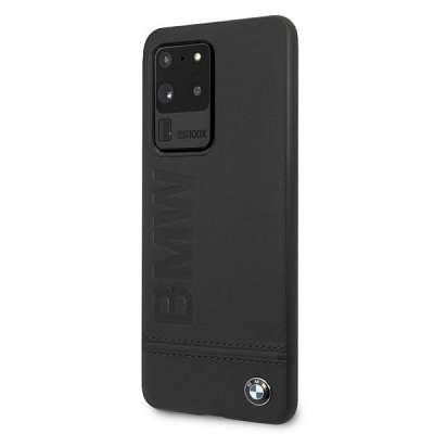 Originalen ovitek BMW (black) Signature leather za Samsung Galaxy S20 Ultra