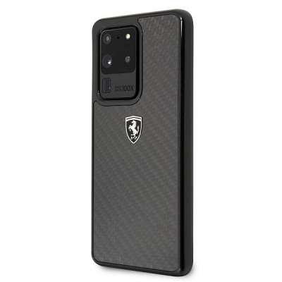 Originalen ovitek FERRARI (black) Carbon Heritage za Samsung Galaxy S20 Ultra