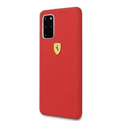 Originalen ovitek FERRARI (red) Silicone za Samsung Galaxy S20 Plus