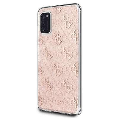Originalen ovitek GUESS (pink) Sparkle za Samsung Galaxy A41