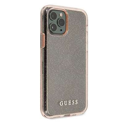 Ovitek GUESS (pink sparkle) za iPhone 11 ProMax