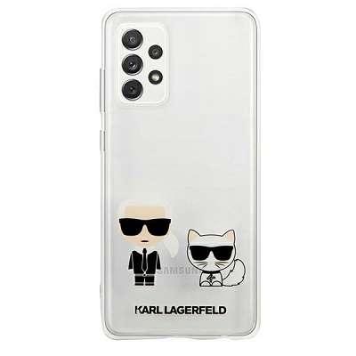 Originalen ovitek KARL LAGERFELD (transparent) Karl and Choupette za Samsung Galaxy A72