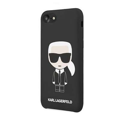 Originalen ovitek KARL LAGERFELD (black) Icone KL za iPhone 7 / 8 / 9 / SE / SE2