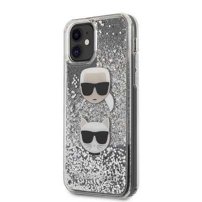 Originalen ovitek KARL LAGERFELD (transparent) Glitter Karl&Choupette za iPhone 11