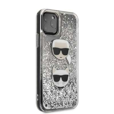 Original ovitek Karl Lagerfeld (sparkle grey) za iPhone 11 ProMax