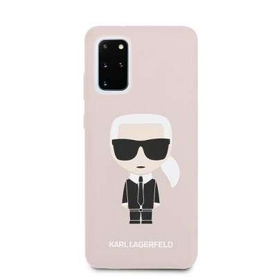 Originalen ovitek KARL LAGERFELD (pink) Icona za Samsung Galaxy S20 Plus