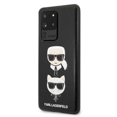 Originalen ovitek KARL LAGERFELD (black) Karl & Choupette za Samsung Galaxy S20 Ultra