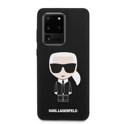 Originalen ovitek KARL LAGERFELD (black) Icone za Samsung Galaxy S20 Ultra