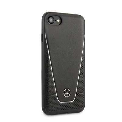 Originalen ovitek MERCEDES (black) Leather za iPhone / / 8 / 9 / SE / SE2