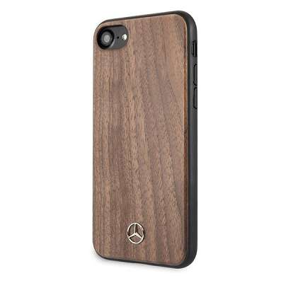Originalen ovitek MERCEDES (brown) Wood Line za iPhone 7 / 8 / 9 / SE / SE2