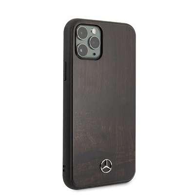Originalen ovitek MERCEDES (brown) wood za iPhone 11 Pro