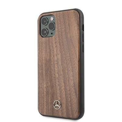 Originalen ovitek MERCEDES (brown) wood lines za iPhone 11 Pro