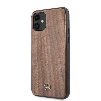 Originalen ovitek MERCEDES (light brown) Walnut wood lines za iPhone 11