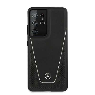 Originalen ovitek MERCEDES (black) Dynamic za Samsung Galaxy S21 Ultra