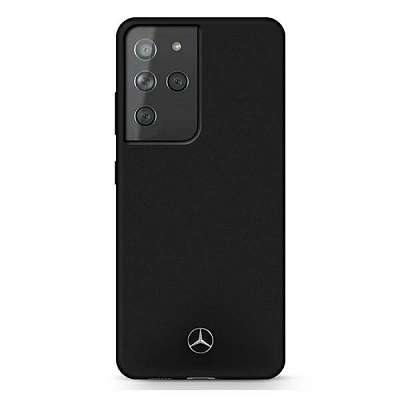 Originalen ovitek MERCEDES (black) Silicone Line za Samsung Galaxy S21 Ultra