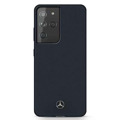 Originalen ovitek MERCEDES (dark blue) Silicone Line za Samsung Galaxy S21 Ultra