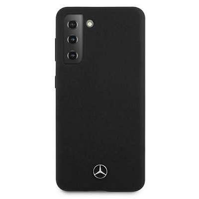 Originalen ovitek MERCEDES (black) Silicone Line za Samsung Galaxy S21 Plus