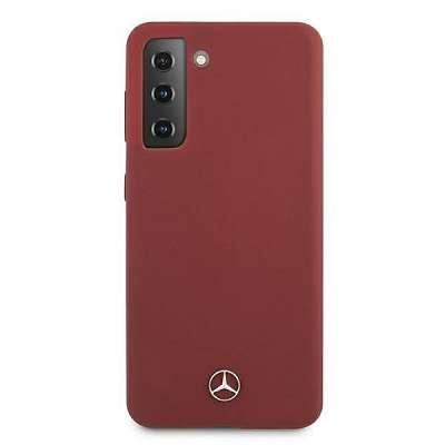 Originalen ovitek MERCEDES (red) leather za Samsung Galaxy S21