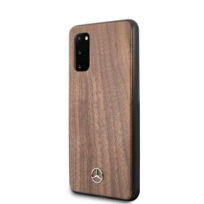 Originalen ovitek MERCEDES (light brown) Wood Lines za Samsung Galaxy S20