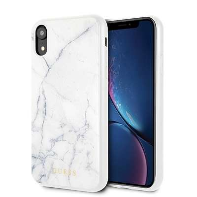 Originalen ovitek Guess (White marble) za iPhone XR