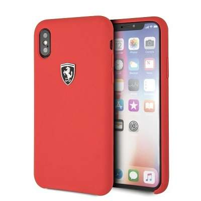 Originalen ovitek Ferrari (Silicone Off Track Collection) red za iPhone X/XS