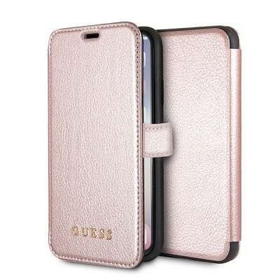 Originalen preklopni ovitek Guess (rose gold) za iPhone X/XS