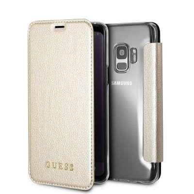 Originalen preklopni ovitek Guess (gold) za Samsung Galaxy S8 Plus